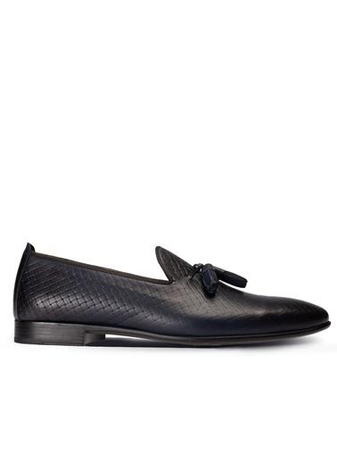 Deery Ayakkabı Hakiki Deri Lacivert